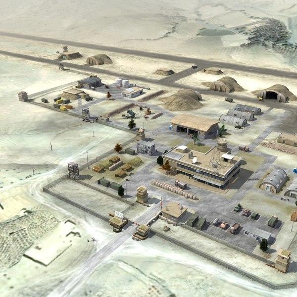 military airbase 3d model