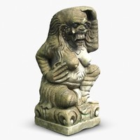 ancient balinese statue 3ds