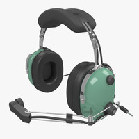 headset helicopters 3d model