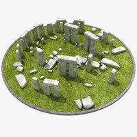 3d stonehenge stone