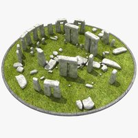 3d model stonehenge stone