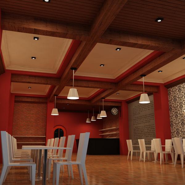 Cafe interior d max