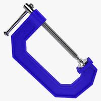 3d c clamp model