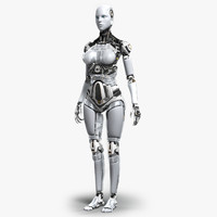 3d model female robot