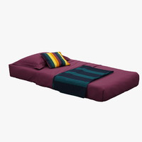 3ds max high-quality s single bed