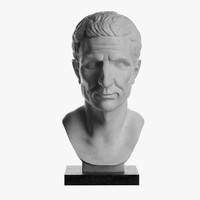 3d model of bust julius caesar