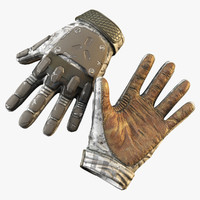sci-fi gloves 3d obj