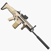 3ds max fn scar-h rifle scar h