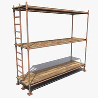 scaffold modeled 3d max