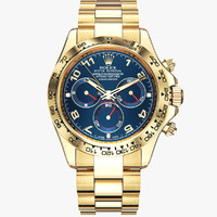 rolex daytona gold 3d model
