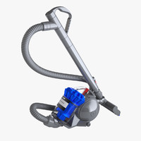 photoreal vacuum cleaner dyson 3d model