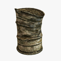 damaged barrel 3d ma
