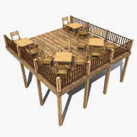 3d terrace 2 model