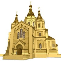 3d cathedral russia model