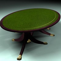 period oval table 3d max