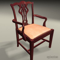 3ds max period dining chair