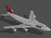 b 747-400 northwest obj