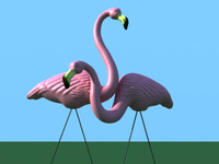 3d model don pink flamingos