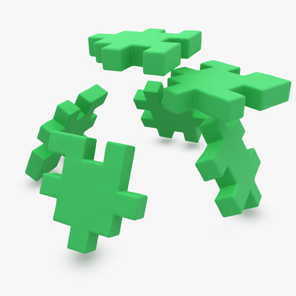 happy cube green animation 3d model