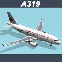 airbus a319 air canada 3ds
