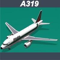 airbus a319 alitalia b 3d c4d