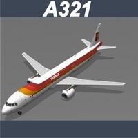 3dsmax airbus a321 iberia