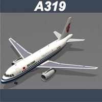 airbus a319 air china 3d model