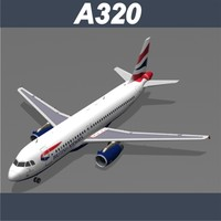 airbus a320 british airways 3d model