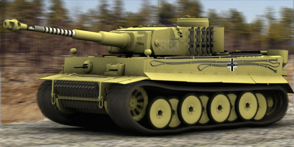 3d late tiger 1 tank model - tiger 1 tank... by 3rdaxis