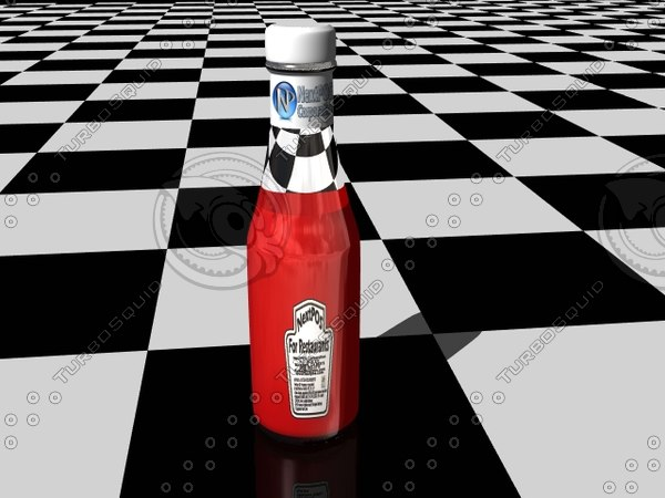 3d lightwave ketsup bottle model