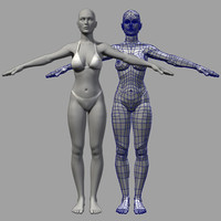 basic female mesh 3d model