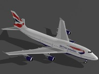 3ds b 747-400 british airways