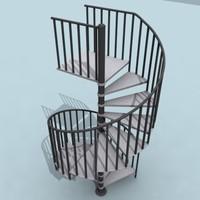 3d model spiral stair
