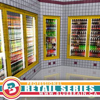 gas station drink coolers 3d 3ds
