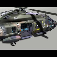 nh-90 transport helicopter 3d model
