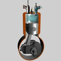 four-cycle engine diesel 3d model