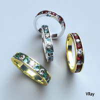 ring diamond ruby emerald 3d model