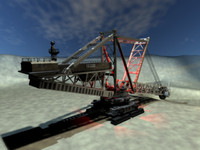 3d giant excavator strip mines model