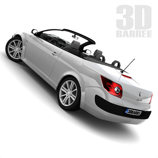 renault megane ii cabrio 3d model. Black Bedroom Furniture Sets. Home Design Ideas