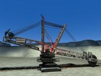 rheinbraun giant bucket excavator 3d 3ds