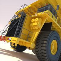 truck komatsu 930e 3d model