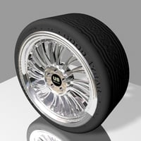 cool wheel tire 3d max