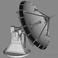 satellite dish antenna 3d model