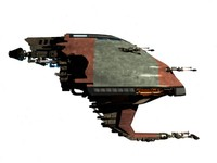 alien space war ship 3d max