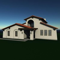 3dsmax story residential house