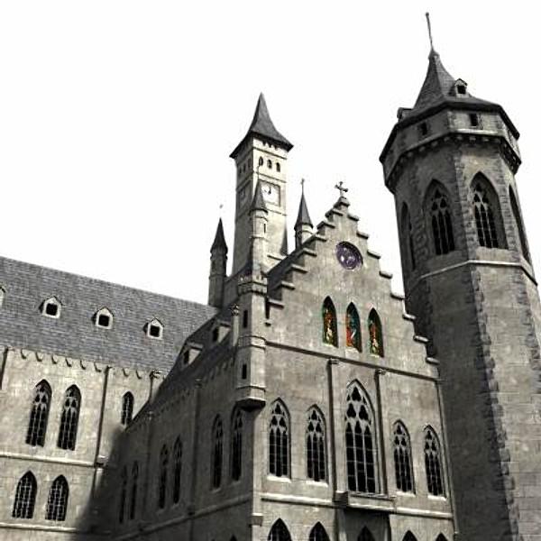 Fantasy castle 3d model fantasycastle by medievalworlds