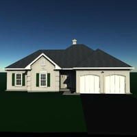 3d model story residential house