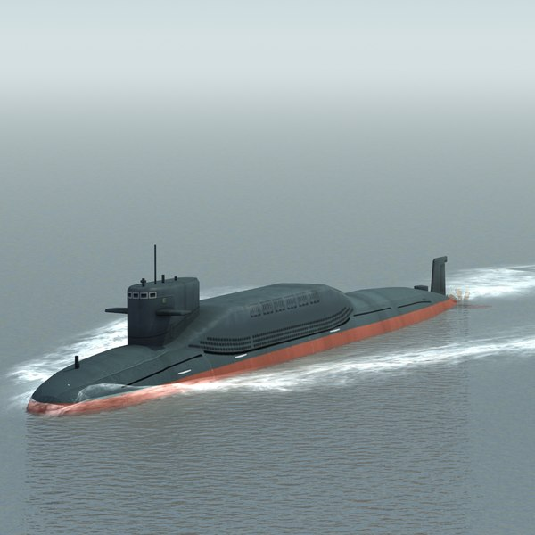 3d model type094 nuclear submarine