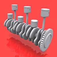engine pistons 3d max
