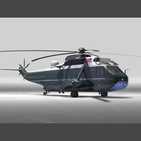 sikorsky sea king marine 3d model